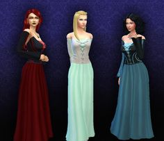 Sims 4 CC's - The Best: Long Witch Dress by Kiara24