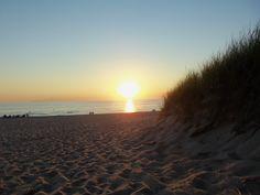 Lake Michigan in Ludington. July sunset.
