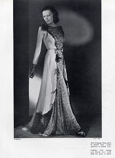 Paquin 1939 Evening Gown Fashion Photography