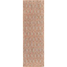 Hand-woven Gosport Geometric Rug (2'6 x 8') (Orange), Size 2' x 8' (Viscose, Argyle) #GeometricRugs