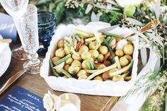 Roasted potatoes | Stephanie Yonce Photography and Amore Events by Cody | see more on: http://burnettsboards.com/2014/08/european-flavored-al-fresco-rehearsal-dinner/