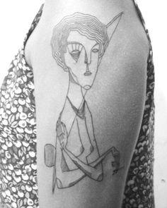 una mujer pra Marcella. Valeu, nega!  #tattoo #tatuagem #tattooed #linetattoo #linework #blackworktattoo #woman #capoeira #aracaju