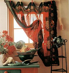 and beautiful, colored, sheer fabrics, allowing the light to filter thru, idea, I have some sheer silk sheets, I will silk screen them...and design my own fabrics for the windows, closets, walls... beautiful, and I love the clips! =)b.smiles