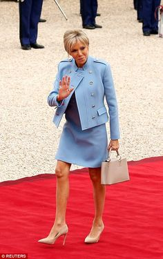 Days ago, daughter of France's new First Lady Brigitte Trogneux (pictured) blasted the tro...