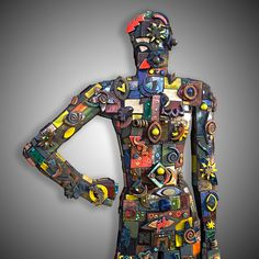 Hill Brin - 3D Mixed Media #ChastainParkArtsFestival #art #fair #artfestival #paintings #pottery #glass #jewelry #clay #photography #fiber #oils #mixedmedia #metal #bronze #stone #acrylic #sculpture #watercolor #ceramics #atlanta
