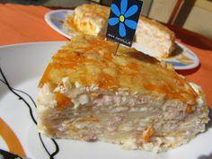 Tarta de jamón y queso Thermomix Empanadas, Pork Recipes, Deli, Deserts, Dairy, Yummy Food, Yummy Yummy, Pie, Pasta