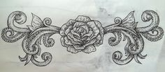 Tentacle Rose Tattoo Design by ~xcutHEREx on deviantART