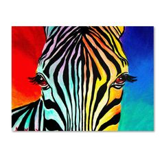 Artist: DawgArt Title: 'Zebra' Product type: Giclee, gallery wrapped