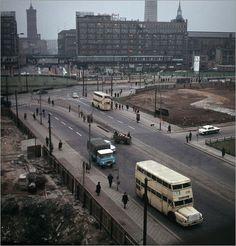 Details zu Poster / Leinwandbild DDR - Baustelle Alexanderplatz 1967