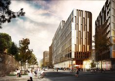 Schmidt Hammer Lassen Wins Competition to Design Mixed-Use Complex in Central Oslo,© Beauty and The Bit / schmidt hammer lassen…