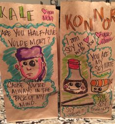 Pin for Later: This Mom Continues to Outdo Herself With Hilarious Lunch Bag Jokes Puns, Hilarious, Jokes, How To Get, Mom, Drawings, Parenting Tips, Lunches, Inspiration