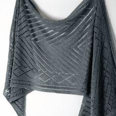 Lorelei Rectangular Shawl in Graphite with Shibui Pebble Knit Purl