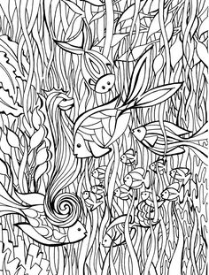 Here is a gallery of coloring pages that you can print out and color as often as you like. Coloring pages from zentangles, mandalas and doodles to famous cartoons and stories. Adult Coloring Pages, Fish Coloring Page, Doodle Coloring, Printable Coloring Pages, Colouring Pages, Coloring Sheets, Coloring Books, Free Coloring, Wal Art