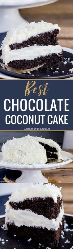 Best Chocolate Cake Coconut Buttercream | Posted By: DebbieNet.com