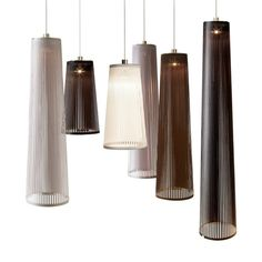 These would be great to do over the island staggering them and mixing of sizes  A suspension lamp made of lightweight polyester fabric and stainless steel, Solis can be used as a pendant, hung from a wall, or as a freestanding, portable luminaire. Special features include: Full-range dimmer Ships flat-packed