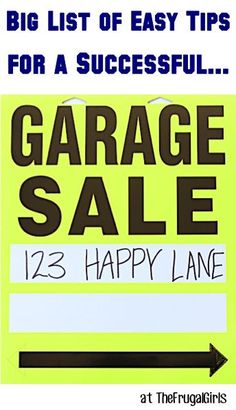 31 Tips for a Successful Garage Sale!! ~ from TheFrugalGirls.com {creative ideas to have a fabulous yard sale and bring in the big bucks!} #yardsale #garagesale #thefrugalgirls