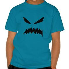 Scary Ghost Kids Teal T-Shirt