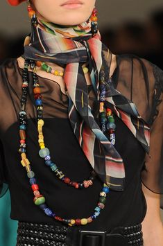 multi- colored beaded necklace...Ralph Lauren Spring 2013
