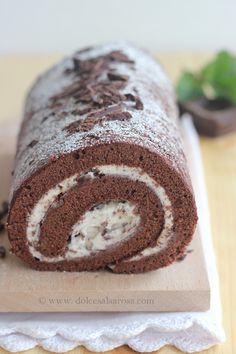 Dolce Salsarosa: Roll di cioccolato farcito alla ricotta