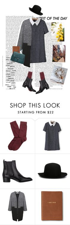 """Monday oufit"" by yagmur ❤ liked on Polyvore featuring Petit Bateau, Brooks Brothers, Yves Saint Laurent, ISABEL BENENATO, Helene Berman, Monica Rich Kosann, Burberry and Brownstone"