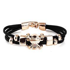 Fashion Skull PU Leather Wrap Bracelet(Random Color) – USD $ 1.99