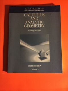 Calculus and Analytic Geometry Vol. 2 by Stein and Barcellos + FREE SHIPPING