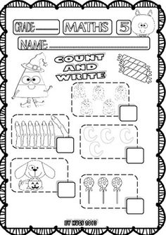 halloween maths funny worksheets for p k k and 1st grade set 1 student centered resources. Black Bedroom Furniture Sets. Home Design Ideas