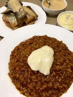 Caldero murciano – Mi mejor hornada Polenta, Bon Appetit, Risotto, Tapas, Waffles, Food And Drink, Pudding, Murcia, Eat