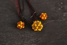 Yellow earrings and pendant, Preciossa Ornella