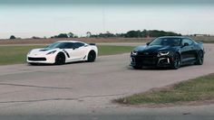 Watch the Speed Battle between the 2017 Camaro ZL1 VS 2017 Corvette Z06