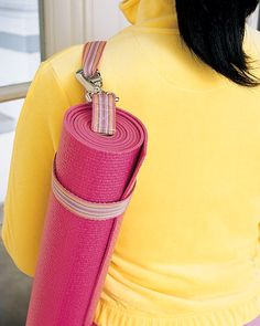 Using a 6' dog leash to carry one's yoga mat -- brilliant! How could this have been a known possibility since at least 2005 and I didn't ever see it? @LyndaMitchellYogaStudio, maybe this is the silly detail to bring me back to class!
