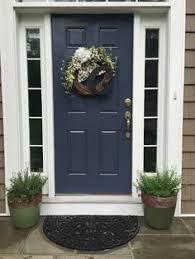 The Front Door Is Painted In Benjamin Moore Hale Navy Navy