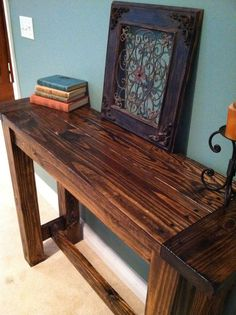 Rustic Wooden Farmhouse Console Table handmade by FarmHouseFun, $350.00
