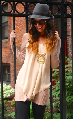 Lex in the City wearing our It's a Sheer Thing Tunic
