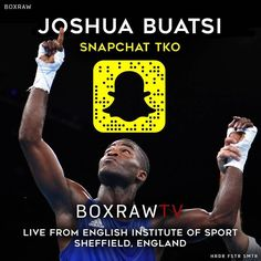 Tomorrow GB's Olympic Bronze medalist @boxingbuatsi takes over the Snap live from the team GB camp in Sheffield England. The Ghanaian born British light heavyweight won his first 2 bouts in Rio by stoppage and then went on to take the Bronze. Somehow Joshua manages to train full time in camp while also studying for a Masters degree in Management and Sports Science. To find out more about the light heavyweight prospect make sure you tune in tomorrow. If you've got any questions for…