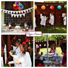 Rainbow Paint Birthday Party Package - super cute!