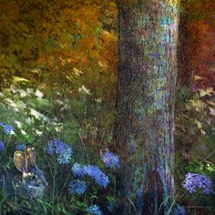 Forest Bunny by Chris Vest Painting Print on Wrapped Canvas