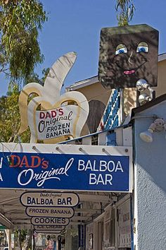 The best chocolate covered bananas are at Dad's in Balboa Island.