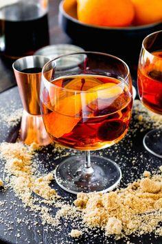 Brown Sugar Manhattans from @yestoyolks