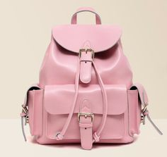 Free Shipping! Premium Quality Stylish Genuine Leather  Baby Pink Backpack for lady US $72.00