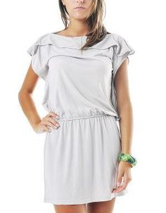 (CLICK IMAGE TWICE FOR DETAILS AND PRICING) Canvas Drop Waist Dress Light Gray. Take this dress from summer to fall by skipping the sandals and adding tights, a chunky cardigan and lace boots.. See More Casual Dress at http://www.ourgreatshop.com/Casual-Dress-C81.aspx