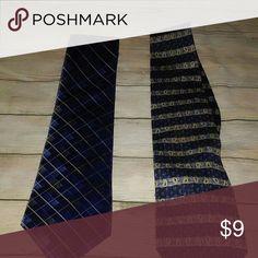 Van Hausen Blue Ties 2 blue ties.  1 New with a tag  1 Like New Accessories Ties