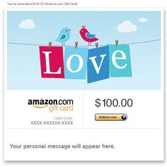 Amazon Gift Card - Email - Love  Amazon Price: $100.00 $100.00 (as of February 18, 2016 07:32 - Details). Product prices and availability are accurate as of the  Read more http://cosmeticcastle.net/gift-cards/amazon-gift-card-email-love  Visit http://cosmeticcastle.net to read cosmetic reviews