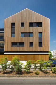 36 logements collectifs et locaux d'activité, Floirac (Gironde), 2009/2013  -  Marjan Hessamfar & Joe Vérons architectes associés