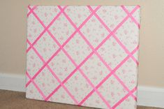 How To Make A Memo Board | Make It Pretty Wednesday: How to Make a Ribbon Memo Board! - Sippy Cup ...