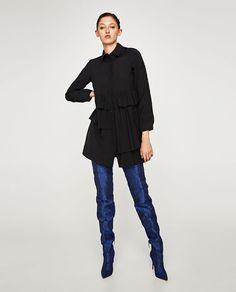 ZARA - WOMAN - RUFFLED SHIRT DRESS