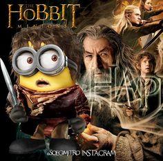 The Hobbit minions Minions Cartoon, Minion 2, Cute Minions, Minions Quotes, Minions 2014, Minion Humor, Funny Minion, It's Funny, Funny Stuff