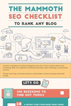 """The mammoth SEO Checklist shows the step-by-step process to rank any blog post in Google and other search engines. Follow this checklist """"check-by-check"""" to start ranking your blog and getting targeted traffic."""