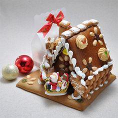 見て楽しめ食べて美味しい手作りクッキーのお家。【クリスマス届け専用】ヘキセンハウス