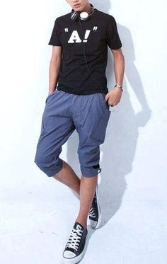 Multi-pocket Slim Gray Pants